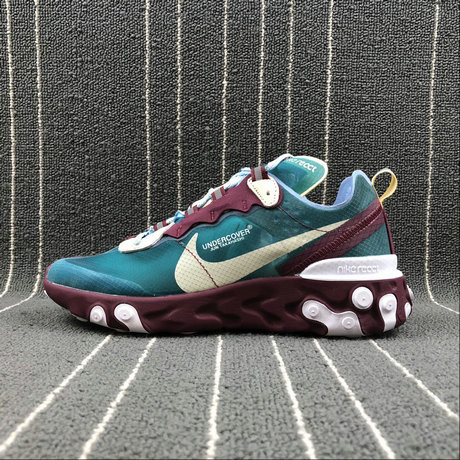 Cheap Nike React Element 87 Undercover Purple Red [eacock Blue Violet Rouge Paon Bleu